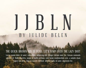 JJBLN - Regular: Elegant Slab Serif Font
