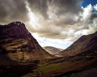 "Landscapes - ""Glencoe - Beautiful Scottish Scenery"", Scottish Photography, Landscape Photography, Wall Art, Wall Decor, Scotland Print"