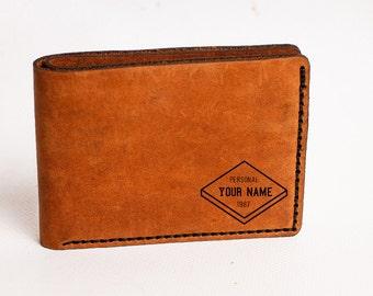 leather wallet, Engraved wallet, Mens wallet, groomsmen gift, anniversary gift, mens gift, gifts for him, gift for men, boyfriend gift