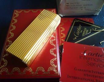 OFFER CARTIER GODRON Gold Plated Swiss Lighter, Gold Plated Cartier Lighter, Vintage Cartier, Cartier Paris Gold Lighter, Must De Cartier