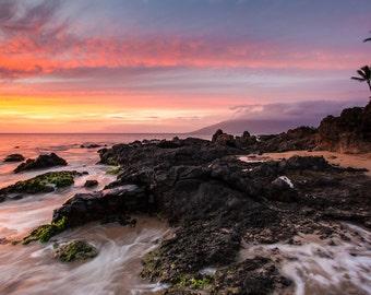 Maui Beach Sunset photography print