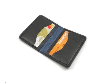 Folding Card Sleeve Wallet • Leather Card Sleeve • Front Pocket Wallet • Small Leather Wallet • Leather Card Wallet • Horween