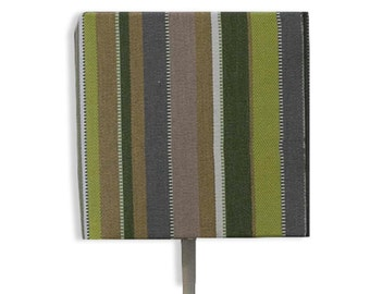 Stripe handmade lampshade using steel & fabric // table lamp shade // fabric lampshade // bedside lamp