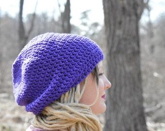Purple Slouch Hat