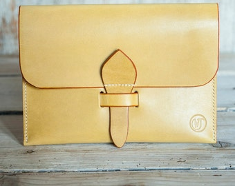 Small leather clutch bag or passport case