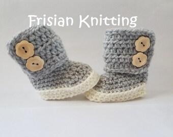 Baby booties, baby schoentjes, baby schuhe, Crochet baby booties, baby uggs, baby shoes, baby slofjes,