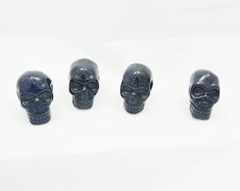 Blue Goldstone Skulls