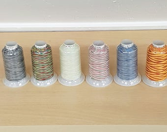 1 Spool Wonderfil Silco 35wt Variegated Cotton Thread 700m - 6 colors to choose from