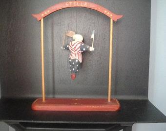 "Vintage Folk Art ""Stella"" suspended circus performer"