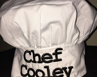 Adult Personalized Chef hat. Will be customized to your liking.
