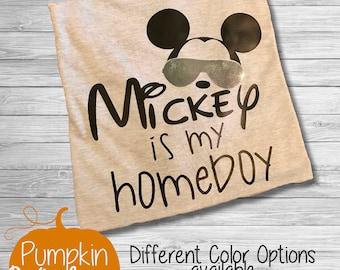 Disney Shirt/First Trip to Disney Shirt /Mickey is my homeboy/First Disney Trip Shirt/Boy Disney Shirt/ Disneyworld Trip Shirt