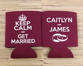 Keep Calm and Get Married, Custom Wedding Coolies