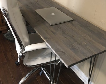 Customizable! Hairpin leg office desk, farmhouse, rustic, gray, office, dorm, work, reclaimed wood, shabby chic,