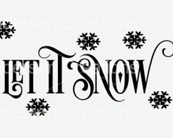 Let it snow SVG & DFX cutting file