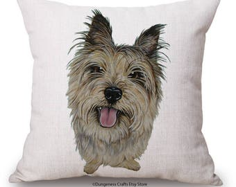 """Yorkshire Terrier Cushion Cover with Cushion Insert Included- 18"""" by 18"""" -"""