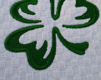 Shamrock Hand Towel - Irish Hand Towel - Shamrock Golf Towel - Embroidered St Paddys Golf Towel - Irish Home Decor