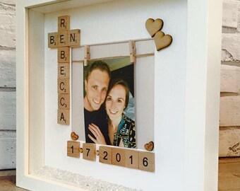 Engagement Gift, Wedding Gift, Anniversary Gift, New Home Gift, Engagement Frame, New Home Frame, Wedding Frame, Happy Engagement Gift Frame