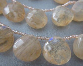 Coffee Quartz Faceted Teardrop Beads 22pcs