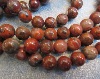 Brecciated Jasper 8mm Round Beads 50pcs