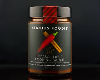 Gourmet Sauce for Cooking Grilling and Braising: Mexican Mirasol Mole