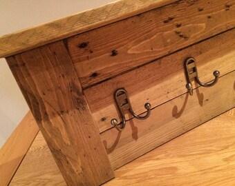Reclaimed pallet wood coat hook