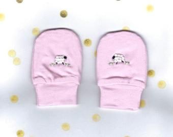 Baby Mittens, Baby Girl Mittens, Baby Gloves, Hospital Mittens, Winter Gloves, Embroidered Mittens, Scratch Mittens, Hand Warmers, Mittens