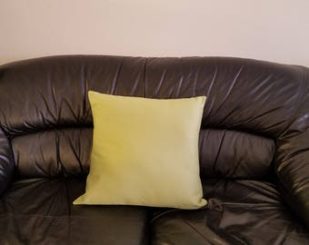 Lime / Cotton Twill Cushion Cover