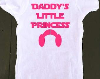 Star Wars Onesie - Daddy's Little Princess- Princess Leih Onesie-  Baby Boy Onesie