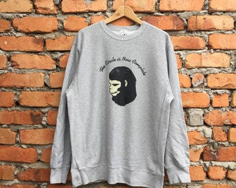 Rare!! A BATHING APE The Circle is Now Complete jumper sweatshirt