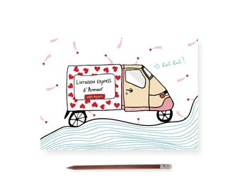 "Postcard ""Express shipping with love"""