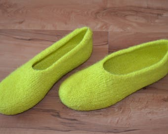 Gr. 38/39: Felted slippers with LaTeX sole / felt slippers with LaTeX sole