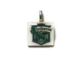 Harry Potter Slytherin Logo Style Charm, Key Chain or Necklace