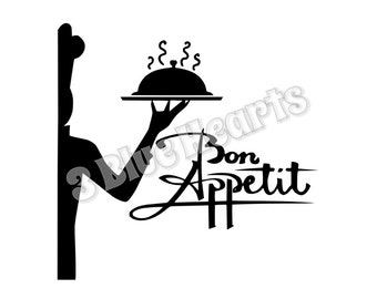 Bon Appetit SVG dxf Studio, Kitchen Files SVG dxf Studio, Cooking SVG dxf Studio, cutting board svg dxf studio