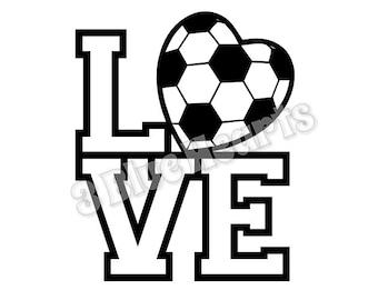 Love Soccer svg dxf pdf jpg studio
