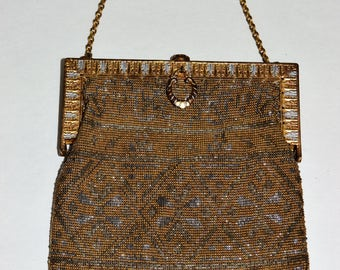 Antique Steel Cut Beaded Handbag