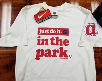 Mens small Nike shirt, atlanta braves shirt, nike baseball shirt, just do it