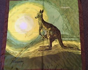 Vintage Heil Australia Souvenir Kangaroo Scarf