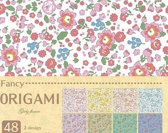 Japanese ORIGAMI paper Fancy Girly Flower Pattern