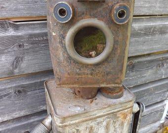 Upcycled vintage tin robot