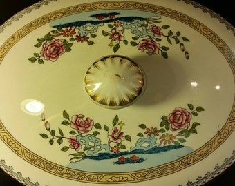 Antique Minton Porcelain Tureen Dated 1892 Exquisite Colors