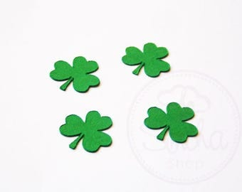 Shamrock Confetti, Irish, Shamrock, Confetti, 3 Leaf Clover, Clover, St Patricks Day, Lucky, Good Luck, Table Decoration, Pack (100) Small