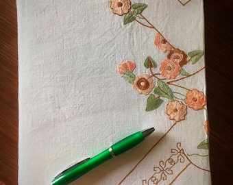 Vintage embroidered handmade Diary cover