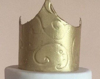 Princess crown fondant gold - available in silver
