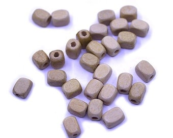 50 pcs 8mm Rectangle Natural Wood Beads | 8mm Beads, Necklace Beads, Bracelet Beads, Natural Beads, Rectangle Bead, 8mm Wood Beads