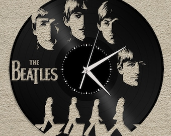 Beatles Clock, The Beatles, Abbey Road, Beatles Wall Decor, Beatles Art, The Beatles Clock, Music Lover Gift, Gift For Him, Beatles Vinyl