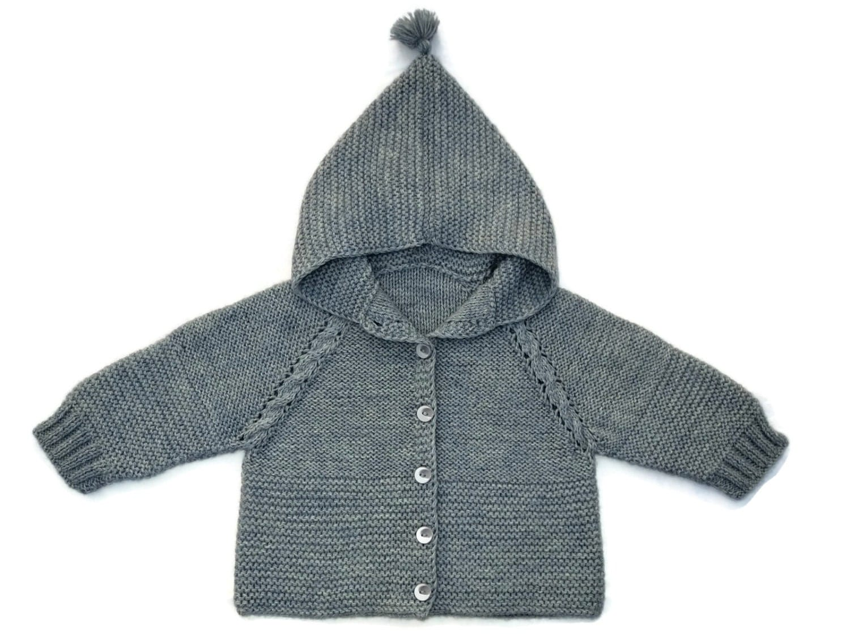 baby hooded sweater gebreide baby trui breien baby jas brei. Black Bedroom Furniture Sets. Home Design Ideas