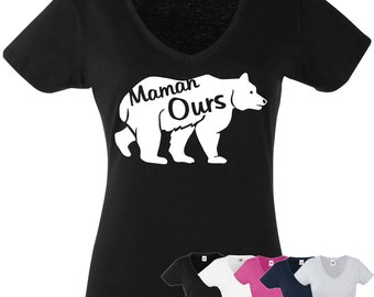 Mama T-Shirt, 5 color choices, tee women shirt XS to XL, birthday present, gift, MOM, mother bear, family