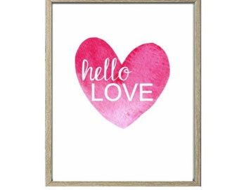 Love Printable - Hello Love