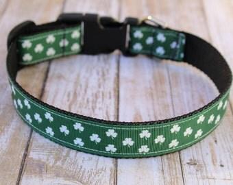 St. Patrick's Day Dog Collar - Shamrock Dog Collar - Irish Dog Collar - St. Patty's Day Collar - Shamrock Dog Leash - Shamrock Harness
