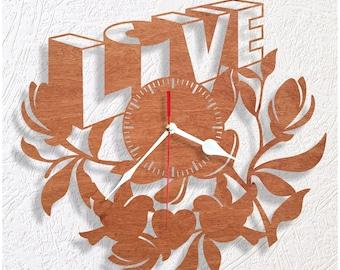 LOVE wooden wall clock